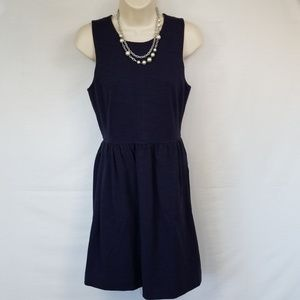 Madewell Sleeveless Navy Fit and Flare Dress Sz S